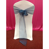Wholesale High Quality Chair Sashes Cheao Bow Teal Chair Organza Sashed For Wedding Party And BANQUET