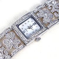 Cheap 2014 New Arrival Hollow Design Women Brass Wrist Watch Metal Band with Czech Crystals Japan Miyota 2035 Movement 15639