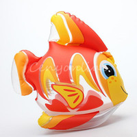 Cheap Lovely Cute PVC Animal Inflatable Air-Filled Swimming Pool Shower Gold Fish Toys For Baby Children Kids Birthday Gift