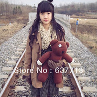 Wholesale OP cm Mr Bean Bear Animal Plush Toy Brown Figure Doll Children s gifts hot sale