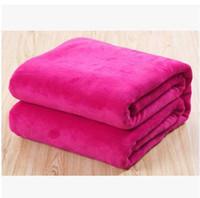 Cheap Free shipping mantas e cobertores cobertor de casal brand bedclothes cobertor coral fleece baby blanket on the bed 150*200 016
