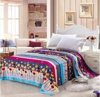 Cheap Free shipping mantas e cobertores cobertor de casal brand bedclothes cobertor coral fleece baby blanket on the bed 150*200 017