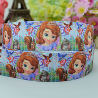 character ribbon - Sofia the first party decoration mm children accessoriesbirthday character hairbow printed grosgrain ribbon yard