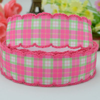 character ribbon - Chequer mm crafts accessories party decoration Personal design character crochet printed grosgrain ribbon yard