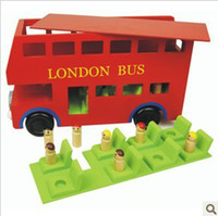 Car baby toys london - Baby Toys Red London Bus Educational Wooden Toy Baby Early Learning Toys Removable Toys Christmas gift for baby