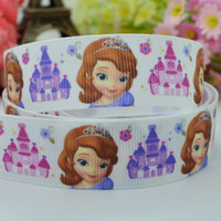 character ribbon - Sofia the first party decoration mm children single face character hairbow printed grosgrain ribbon yard roll