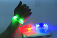 Wholesale With Led light voice control bracelet luminous hand ring luminous hand ring cheer props light luminous hands ring