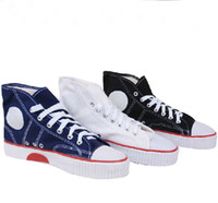 Cheap Shoes Free shipping Unisex High-top Basketball Canvas Shoes