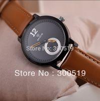 Cheap JW251 2013 New Women Fashion Genuine Leather Strap Watches Luxury Big Size Japan Movement Clock SKONE Brand Watch New Clock