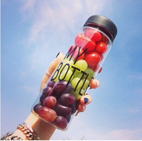 Wholesale ml Korea style new design Today s special plastic sports water bottle with words quot My bottle quot