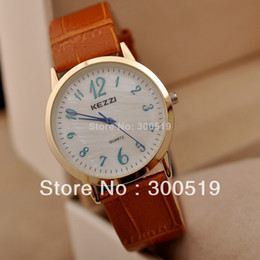 JW334 High Quality KEZZI Brand Watch Roman Number Watch Face Genuine Leather Strap Women Dress Watches