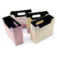 Cheap Wholesale 10pcs lot Cute Makeup Cosmetic Stationery DIY Paper Board Storage Box Desk Decor Organizer