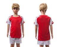 contact number - Kids Soccer Jerseys Red Soccer Jersey White Short Set Childrens Sportswear able custom name number contact me for more details