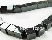 wholesale magnetic hematite beads - Natural Not Magnetic Hematite tube square shape A mm stone Loose beads jewelry making bracelet neclace factory price