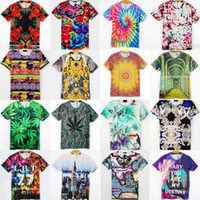 Cheap 21 color 5 size women men 3D t-shirt Palace Church Strawberries Landscape Plant Flowers print funny Cotton t shirts tshirt tops