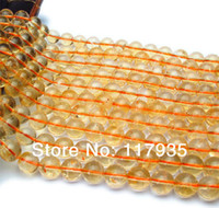 "Cheap Wholesale100% Natural A AA orange brasilian citrine crystal quartz round glossy loose beads 15.5"" strand 6-12mm jewelry making"