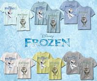 Wholesale 2014 Frozen Olaf T shirt Summer Cartoon T Shirt For Boys Frozen Snowman Baby Tees Tops Olaf Elsa Anna Boys Frozen Tshirt Short Sleeve A354