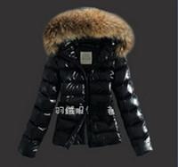 badger jackets - 2014 new women s Brand Fashion Duck Coat With Badger Fur Hood Women Winter Duck Down Jacket Overcoat Black XXL