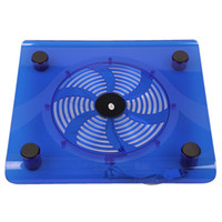 Wholesale Free Drop Shipping Cheap USB Laptop Notebook Cooling Cooler Pad with Big Fan for quot quot quot quot BLUE