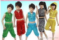 Wholesale new fashion Children s jazz dance costumes boys and girls Street dance stage performance clothing