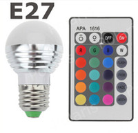 Wholesale E27 W AC85 V Magic Color Changing LED RGB Bulb Light IR Remote Control