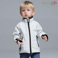 Wholesale Harvey Bo kids outdoor softshell coat windproof waterproof boys girls children s sport outerwear warm jacket high quality