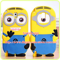 3D Despicable Me 2 soft silicone case more minions for iphon...