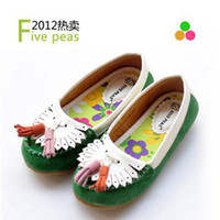 Cheap size 25-38 genuine leather family children shoes five peas
