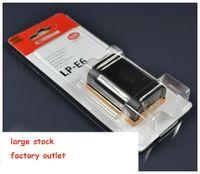 Wholesale Brand New lp e6 Li ion Digital camera battery rechargeable battery LP E6 for Canon EOS D2 D3 D D D D LC E6E