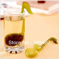 Cheap novelty Music symbol spoon with Tea Strainer Tadpole Stirrer spoon Infuser 500 lot free shipping