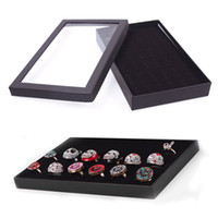 Cheap New 36 Slots Ring Storage Ear Display Box Jewelry Organizer Holder Show Case #57900