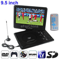 Wholesale 9 inch Portable DVD TFT LCD Screen Digital Multimedia with Card Reader USB Port Support TV SD MS MMC Card