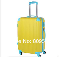 Wholesale 2014New Travelland trolley luggage fashion suitcase box inch top quality ABS spinner rolling luggage for man and women