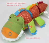 Wholesale OP Crisp rings rotating crocodile dolls years old infants educational toys baby toys plush toys popular toys retail