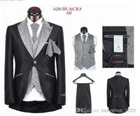 Cheap The new suit wedding the groom suit men marry a button 5 black white stripes