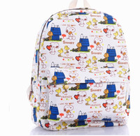 Wholesale Ladies Brand Snoopy Printing Designer Knapsack Women Hiking Canvas Rucksack Children Fashion Cartoon Backpack
