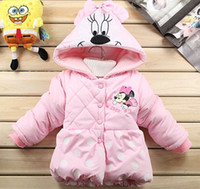 Wholesale Retail Hot sale New Winter cotton Girls Children s coat Kids clothes Baby Dot Minnie thick coat lovely girl coat