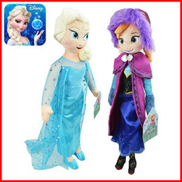 Wholesale 2014 New Really Girl Frozen Dolls cm inch Elsa Anna Toy doll Action Figures Plush Toy Baby Frozen Dolls Christmas Gifts EMS Fress Ship