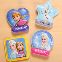 Wholesale Frozen Magnets Olaf Elsa Anna Cartoon Fridge Magnets MINI Household Note Stickers Kids Toys SK029