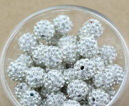 300pcs lot 10mm new mixed Micro Pave CZ Disco clay Ball loose Crystal Bead Bracelet Necklace Beads Rhinestone spacer bead.