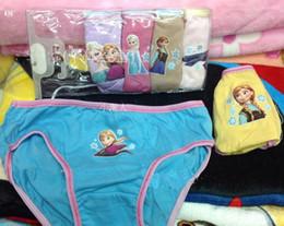 Wholesale Girls colorful Frozen Brief Underwear Set Boxer underwear Hot Sell Frozen Underwear Frozen Briefs styles Bag Sizes u pick Girls