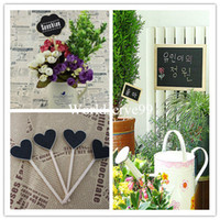 Wholesale Mini Wood Blackboard Chalkboards Sign on Stick Stake Wedding Party Decor Lolly Flower Plants Tag Styles