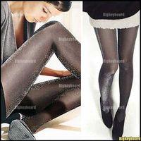 Cheap 10x Fashion Womens Black Shiny Pantyhose Glitter Stockings Tights Free Shipping