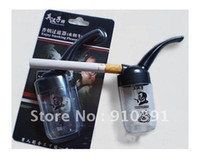 Cheap Wholesale-OP-FREE SHIPPING,Retail Pack mini plastic Circulation Cigarette pipe for healthy smoking water filter hookah,health care products!