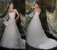 2014 Sheer Bridal Jacket - 2014 White Bridal Gown Organza Bolero Jacket Beaded Crystals A Line Strapless Wedding Dresses