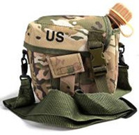 Wholesale ABS Engineering Plastics Outdoor Water Bottle Kettle Canteen with Canvas Pouch and Shoulder Strap