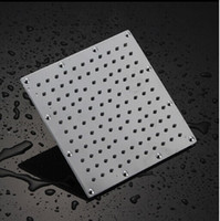 Wholesale Bathroom chorm shower mm head stainless steel ultra thin top spray head shower square showerr inch