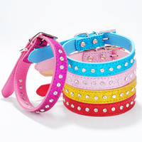 Wholesale New Pet Collar One Row Rhinestones Dog Cat Collar with Alloy Buckle