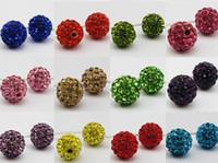 Precio de Mixed crystal beads-200pcs / lot 10m m multicolor mezclado Micro disco de la CZ arcilla bola de cristal del grano de Shamballa pulsera de los granos del collar DIY Rhinestone del grano del espaciador.