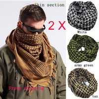 print arab scarf - 2 x HOT Military Windproof Shemagh Tactical Desert ARAB Scarves Hijabs Scarf Cotton Unisex
